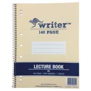 Writer A4 Spiral Lecture Book Board Cover 60GSM 140 Pages