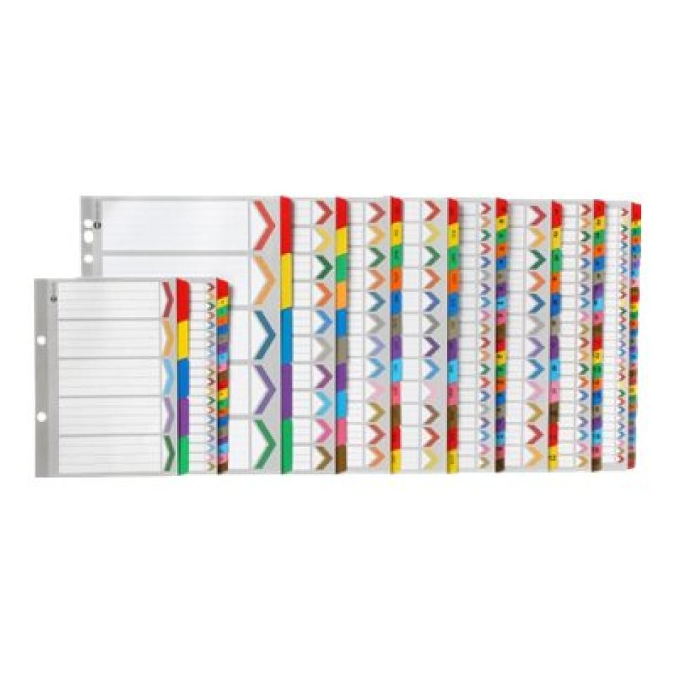 Marbig Dividers Manilla Plastic Coloured Tab A5 White A-Z 20 Tab