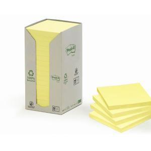 Post-It Recycled Paper Notes 654-1T 76 X 76mm 16Pk