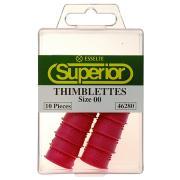 Esselte Superior Thimblettes Size 00 Dark Pink Box 10