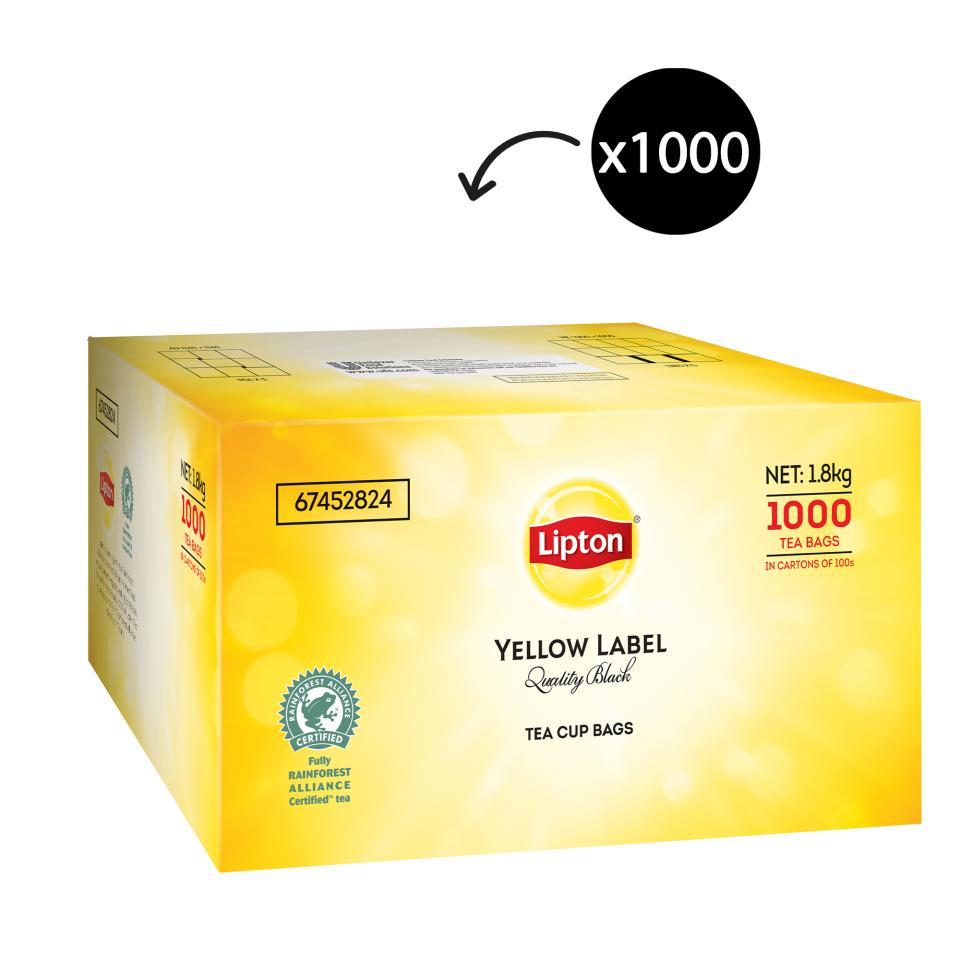Lipton Yellow Label Quality Black Tagged Tea Bags Carton 1000