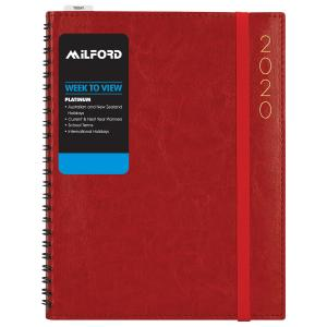 Milford Platinum 2020 Diary A5 Week to View Assorted Colours