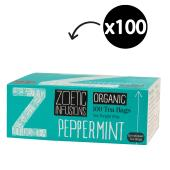 Zoetic Infusions Organic Peppermint Tea Bags Pack 100