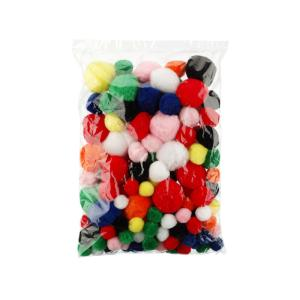 Jasart Pom Poms Std Colours Assorted Sizes Bag 150