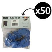 Telkee Key Tags Round Numbered 1-50 Blue