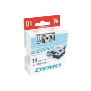 Dymo D1 Label Printer Tape 19mm x 7m - Black On Yellow
