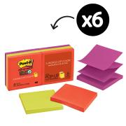 Post-it R330-6SSAN Super Sticky Marrakesh Pop-up Notes 76 x 76mm 6 Pads