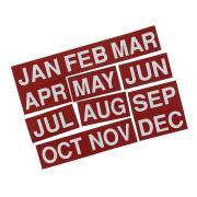 Quartet Magnet Months January-December 25 x 50mm Red Pack 12