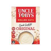 Uncle Toby's Original Quick Oats 340g Sachets 10