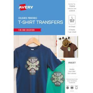 0e95dc42 avery dark coloured t shirt transfer for inkjet printers 210 x 297 .