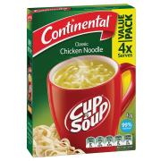 Continental Cup-A-Soup 40g Chicken Noodle Pack 4
