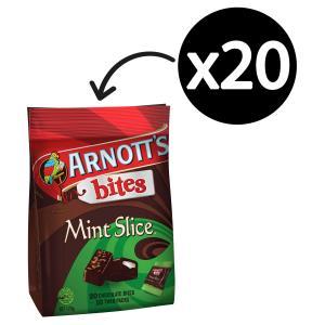 Arnotts Bites Mint Slice 170g Pack 20
