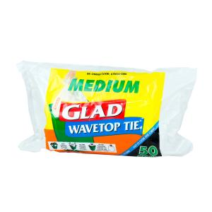 Glad Wave Top Kitchen Tidy 27 Litre Medium Roll 50