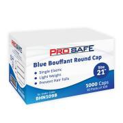 Disposable Bouffant Round Cap 21' PP Blue Pack 100