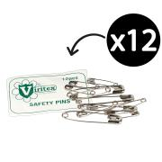 Uneedit Safety Pins Assorted Pkt 12 Item 33