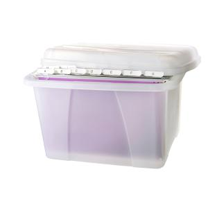 Crystalfile Porta Box Clear With Files
