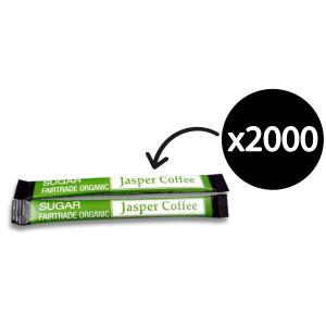 Jasper Fairtrade Organic Sugar 3g Sticks Carton 2000