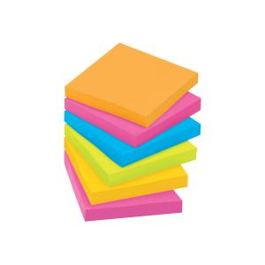 Post-It Super Sticky Notes Rio De Janeiro Collection 76 x 76mm Cabinet Pack 24
