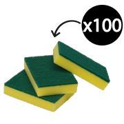 Bastion Regular Duty Sponge Scourer Pads 100x150x30mm Green Carton 100