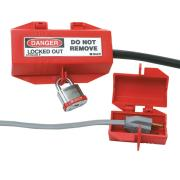 Brady 65674 3 Pin Standard Plug Lockout Device Red Small