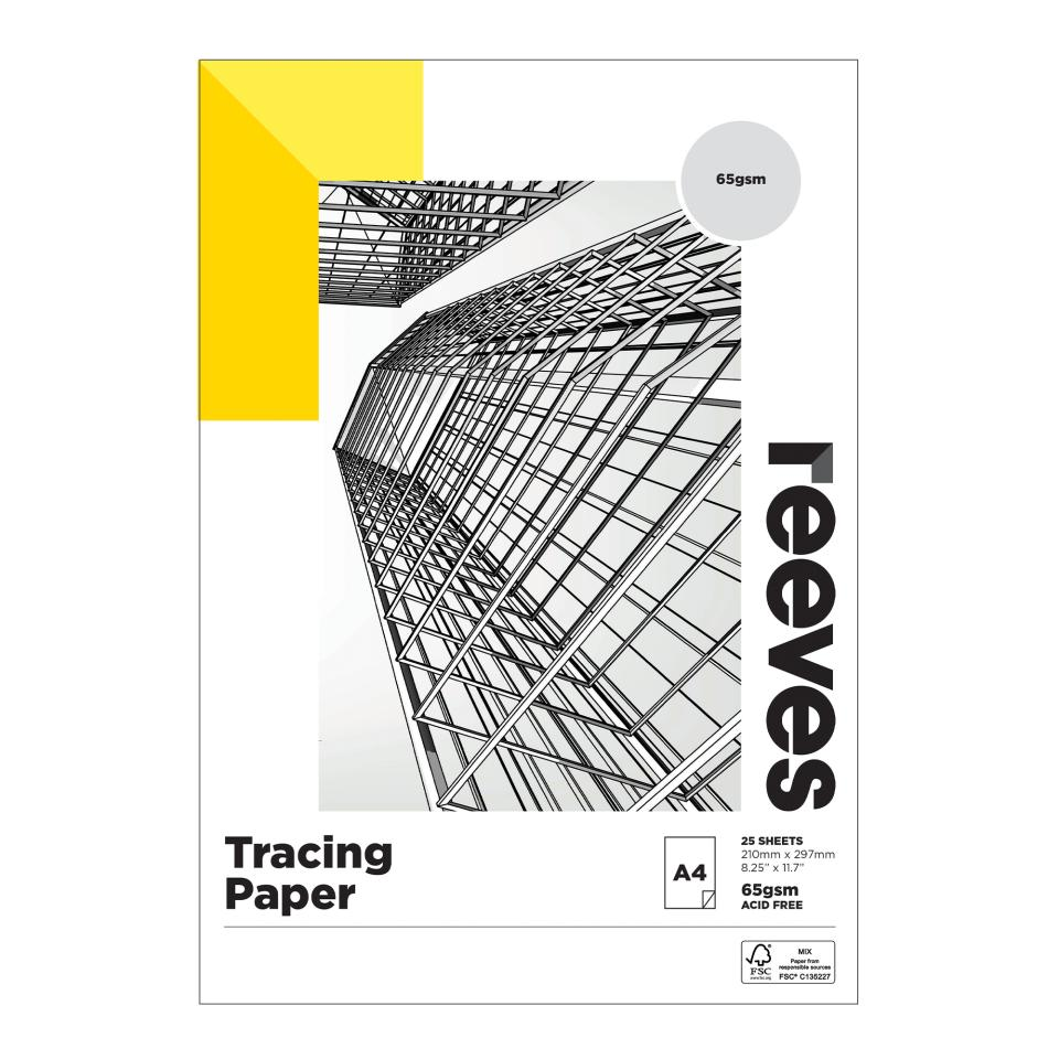 Reeves Tracing Paper A4 65gsm 50 Page/25 Sheet