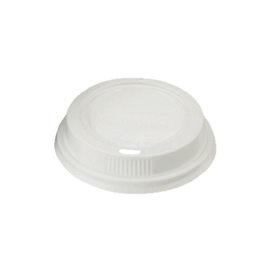 Closed Loop Plastic Lid To Suit 8Oz/237ml Hot Cup White Carton 1000