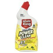 White King Powerclean Toilet Gel Lemon 700ml Each