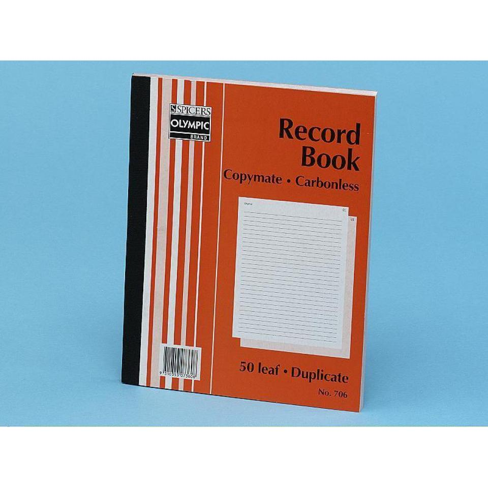 Olympic No.706 Duplicate Carbonless Book Feint 250X200mm