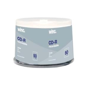 Winc CD-R 700 MB / 52x / 80 Min  50 Pack Spindle