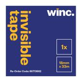 Winc Invisible Tape 18mmx33m Roll