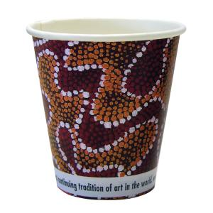CCAB Indigenous Heavy Board Hot Cup 8Oz/285ml Indigenous Print Carton 1000