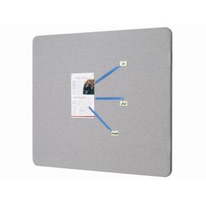 Quartet Oval Unframed 900X1200mm Bulletin Board Fabric Grey