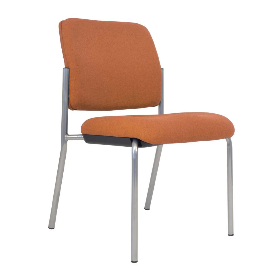 Buro Lindis 4 Leg Chair No Arms with Safetex Rust