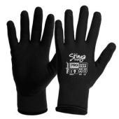 Prochoice Stinga Frost Black Pvc Foam On Nylon Winter Liner  Size 10 Pair