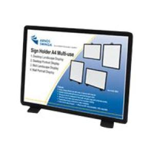 Arnos Swinga Sign Holder 100% Recyclable 4-in-1 A4 Black Image