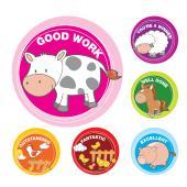 Avery Merit and Reward Stickers Farm Animals 30 mm diameter 96 Stickers
