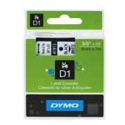 Dymo D1 Label Printer Tape 9mm x 7M Black On White
