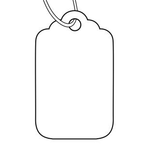 Avery White Merchandise Price Tags - Size 23H - 30 x 21 mm - 1000 Tags