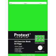 Protext Premium A4 Exercise Book Graph 8mm 64 Pages E22