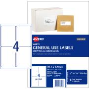 Avery General Use Labels 99.1 x 139mm 400 Labels (L7169GU)