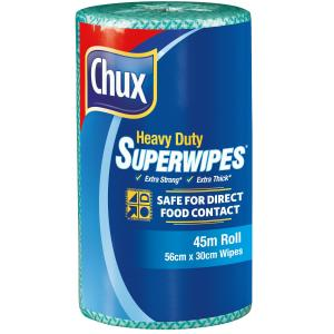 Chux 9305G Heavy Duty Superwipes 560x300mm 45m Roll Green