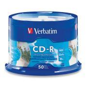 Verbatim Silver Inkjet Printable CD-R 700 MB / 52x / 80 Min - 50-Pack Spindle