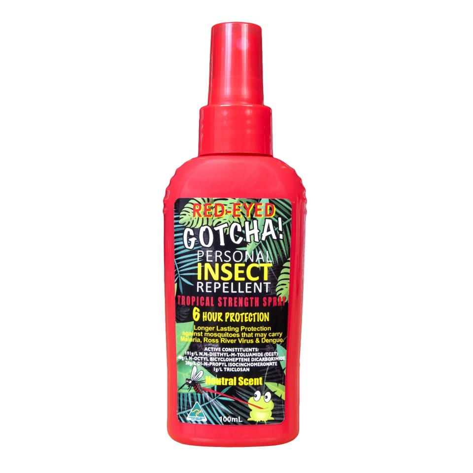 Red-Eyed Gotcha Insect Repellent Pump Pack 100ML each