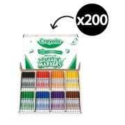 Crayola Classpack Washable Broadline Coloured Markers Assorted Box 200