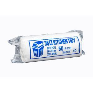 Austar Bin Liners Kitchen Tidy 580x700mm 36 Litre White Roll 50 Carton 1000