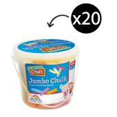 Colorific Classic Craft Jumbo Chalk Assorted Bucket 20