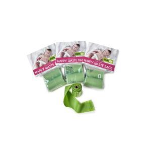 Envirostar Nappy Waste Bag Green 20um 15 Per Roll 2 Pack