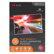 GBC A4 125 Micron High Speed Glossing Laminating Pouches Pack of 100