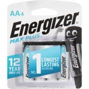 Energizer Max Plus 1.5V Alkaline AA Battery Pack 4