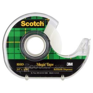 Scotch Refillable Tape Dispenser with Scotch Magic 810 Tape 19mm x 33m